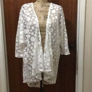 LuLaRoe white cover up size L